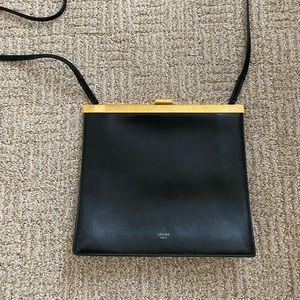 CELINE Mini Clasp Bag in Black